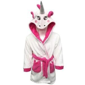 Détails Sur Garçon Fille Peignoir Enfants Animal Licorne Rose Robe De Chambre Polaire Pyjama