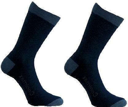 2 PAIRS COOLMAX TECHNICAL LINER SOCKS 2 3 4 5 dark navy walking trek boot socks