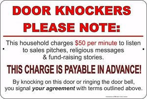 Image is loading Door-Knockers-Please-Note-Charges-50-A-Minute-  sc 1 st  eBay & Door Knockers Please Note: Charges $50 A Minute 8