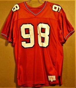 pretty nice 95766 8a8d2 Details about CORNELL BIG RED #98 RED COLLEGE FOOTBALL JERSEY