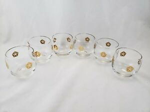 Rare-Mid-Century-Vintage-Chrysler-Promotional-Roly-Poly-Rocks-Glasses-Set-of-6