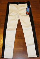 Tractor Girls Stretch Stretchy Jeggings Jeans White & Black Tuxedo Size 12