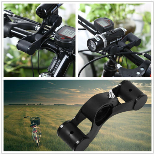 Bicycle New Handlebar Extensions Mount Extender Holder for Flashlight Brackets