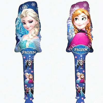 2pcs Cute 78cm Frozen Elsa & Anna Figures Foil Balloons Cheering Sticks Toy Gift