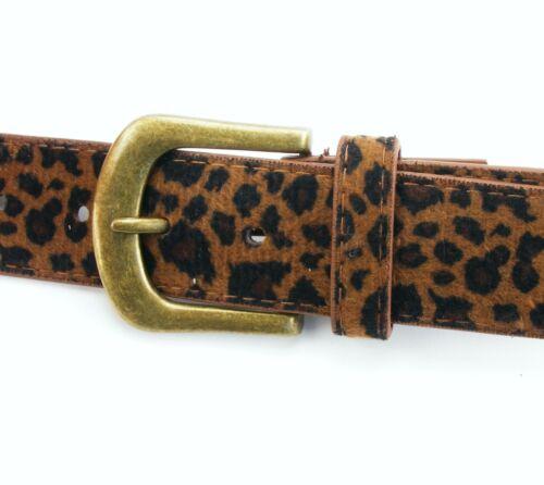 Damengürtel Leopardenmuster Fellgürtel Leopard braun beige Fell aktuell LP3