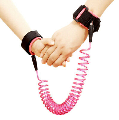 Pink Kids Safety Harness Anti Lost Wrist Strap Leash Baby Walk Child Toddler