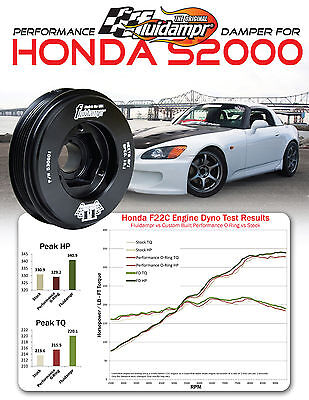 FLUIDAMPR CRANK PULLEY Honda S2000 F20C F22C Steel Internally Balanced
