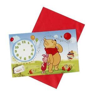 Detalles Acerca De Disney La Winnie Pooh 6 X Tarjetas De Invitaciones Con Sobres Mostrar Título Original