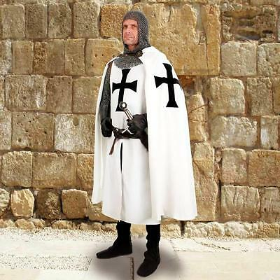 MEDIEVAL KNIGHT CRUSADER Middle Ages TEUTONIC HOODED CLOAK CAPE// TUNIC SURCOAT