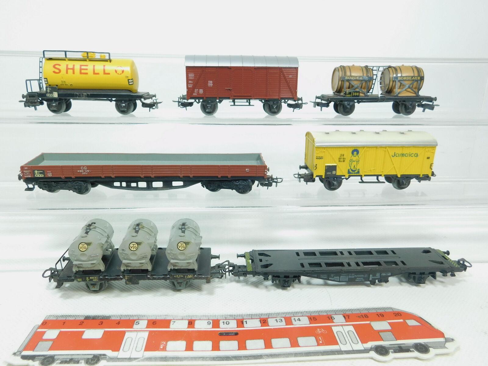 Bk241-1 x MÄRKLIN H0 AC Freight Car  SHELL DB +Bordeaux+Jamaica etc. ,