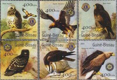 Never Hinged 2001 Birds Guinea-bissau Topical Stamps Guinea-bissau 1446-1451 Unmounted Mint