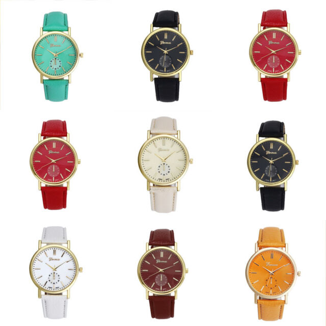 Womens Unisex Watches Leather Band Analog Quartz Vogue WristWatch Watches Cheap
