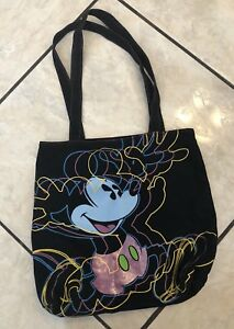 ce3cab432aa Image is loading WALT-DISNEY-WORLD-MICKEY-MOUSE-MEDIUM-CANVAS-TOTE-