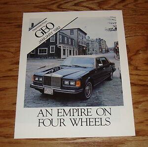 1982 GEO Rolls Royce Brochure Catalog 82 Silver Wraith ...