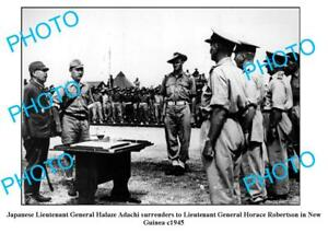 OLD-LARGE-PHOTO-WWII-JAPANESE-SURRENDER-PAPUA-NEW-GUINEA-c1945