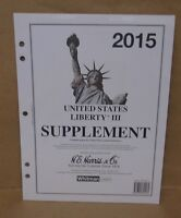 2015 H.e. Harris Liberty 3 Supplement For United States Postal Stationary Stamps
