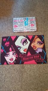 Monster-High-2013-Twin-Size-Flat-Sheet-amp-Standard-Size-Double-Sided-Pillowcase