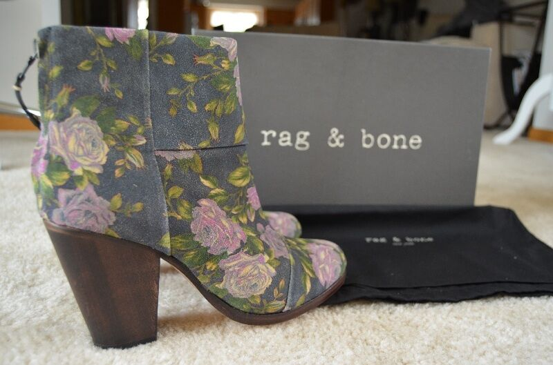 Rag & Bone Floral Newbury Booties Navy Navy Booties bcb84c