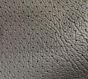2,50 qm. Autoleder Nappa schwarz Lochperforation perforiert MK1 1 Haut ca