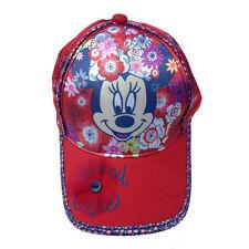 MINNIE cappellino con visiera rosso e blu con stampa effetto lucido da bambina