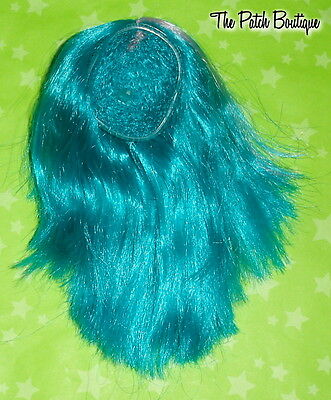 MONSTER HIGH COLOR ME CREEPY CREATE A DOLL REPLACEMENT SYNTHETIC TEAL WIG ONLY