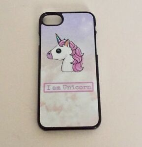 the latest 2fdfa a7b36 Details about Stylish Unicorn Slogan cute pink and purple mobile phone case  iPhone 7 8 (black)