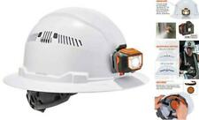 60156 Vented Hard Hat With Full Brim Style Ratchet Suspension Class Light