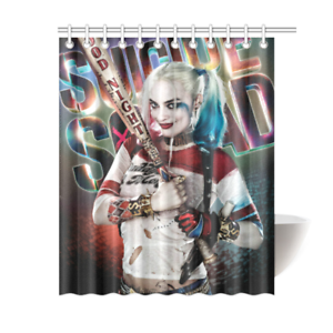 New Custom Harley Quinn Polyester Durable Fabric Shower Curtain 60x72 Inch