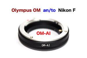 OM - Al  Olympus OM Objektiv Lens Adapter an-To Alle Nikon AI Kamera