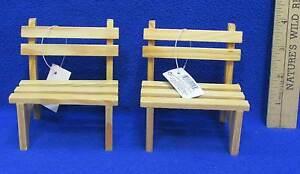 Awe Inspiring Details About Wooden Doll Benches Miniature Wood Russ Handcrafted Lot Of 2 Inzonedesignstudio Interior Chair Design Inzonedesignstudiocom