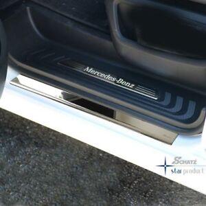 Schaetz-Einstiegleisten-034-Premium-034-Edelstahl-Mercedes-Vito-V-Klasse-W447-Chrom