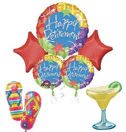 """Retirement Party Supplies and Balloon Bouquet   /""""Permanent Vacation/"""""""