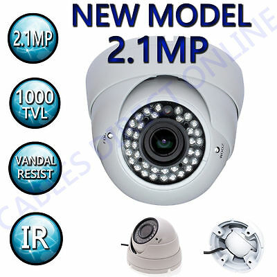 Hdtvi 2.1mp 2.8 - 12mm Varifocal Dome Cctv Surveillance Security Camera Outdoor