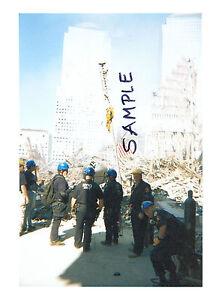 9//11 World Trade Center Destruction Rescue Teams Silver Halide Photo