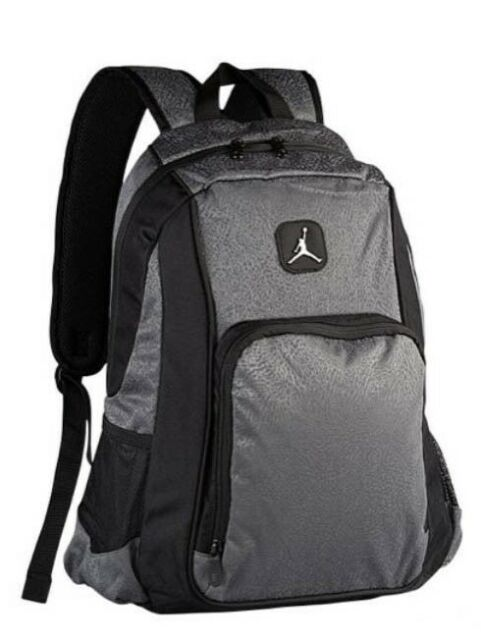 c3ef931d27b7 Nike Air Jordan Legacy Elite Youth Backpack Laptop Book Bag 9a1456 -195 Grey