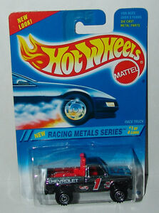 Hot-Wheels-Racing-Metals-Bywayman-Chrome-Chevy-Pickup-Ct-039-s-336-Malaysia-1995