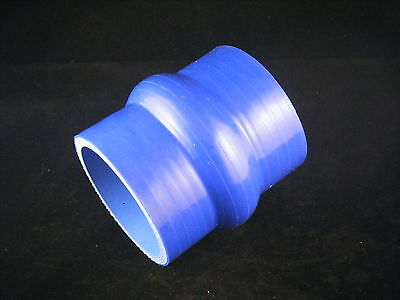 Double Hump BLUE Size Choice Reinforced Straight Silicone Coupler Hose BLACK