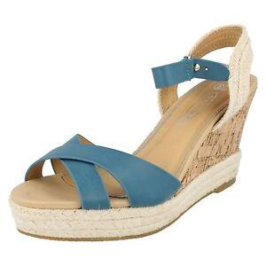 OFFERTA SPOT ON F2227 da donne blu tacco con zeppa sandali con cinturino