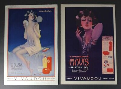 Merchandise & Memorabilia Active 2 Mavis Vivaudou Magazine Ads Advertising In The Style Of Henry Clive Or Fred Packer