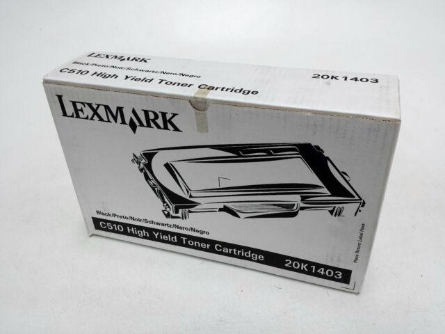 Genuine Lexmark 20K1403-C510 High Yield Black Toner Cartridge
