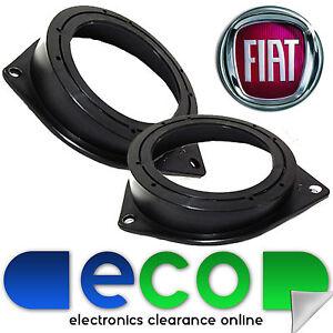 FIAT-Grande-Punto-EVO-2005-10cm-4-034-Rear-Side-Car-Speakers-Brackets-Adaptor-Rings