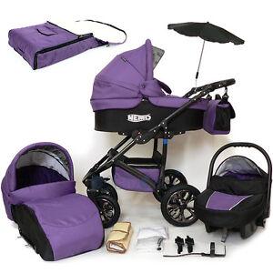 Baby Travel System - SWIVEL WHEEL PRAM - PUSHCHAIR - CAR ...