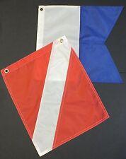 Dive Boat Flag (Alpha Flag) & Diver Down Flag (Scuba Flag) small