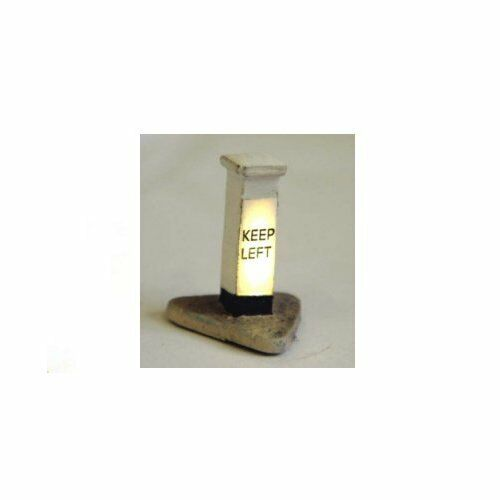 Illuminated /'Keep Left/' Bollard Unpainted Langley F222