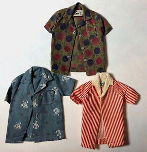 Vintage-1960s-Ken-Allen-Doll-Hawaiian-Print-Sports-Shirt-783-Beach-Jacket-LOT-3