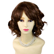 Wiwigs Lovely Light Brown Short Curly Summer Style Skin Top Ladies Wig