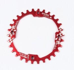 SNAIL 30T XC MTB Bike Round Narrow Wide 1x Single Chainring Chain Ring BCD 104mm