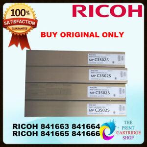 Ricoh-Original-Full-Toner-Set-CMYK-EDP-CODE-841663-841666-841665-841666-MPC3502S