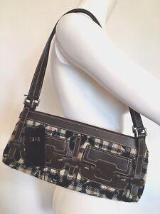Image Is Loading Bnwt Daks Alana Designer Handbag Brown Leather Check