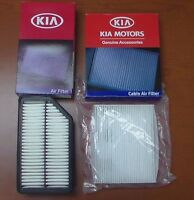 Genuine Kia Soul 2 Piece Filter Kit Engine And A/c Cabin Air Filter Factory